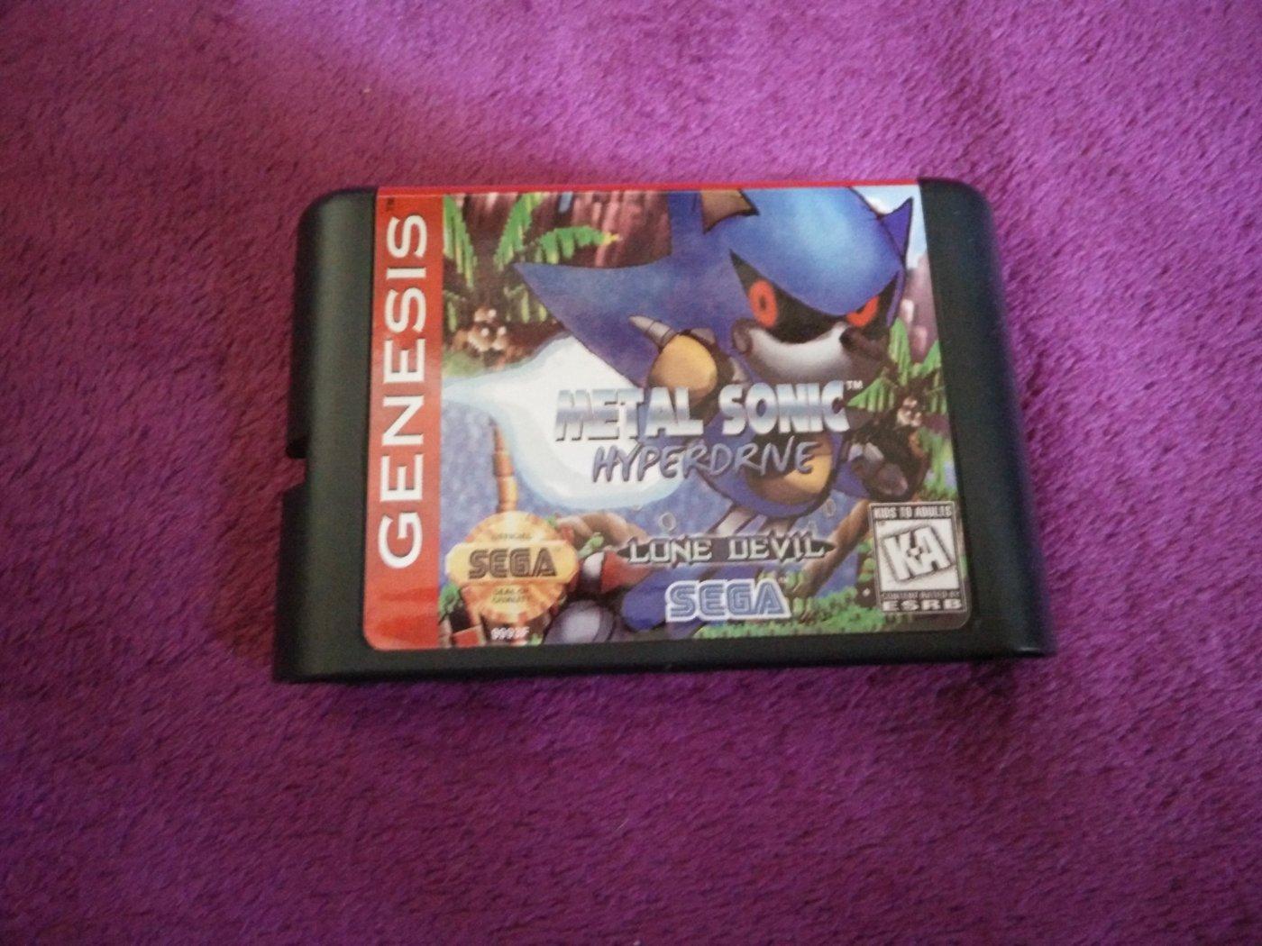 Retro Metal Sonic Hyperdrive Fur Sega Mega Drive Genesis